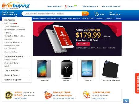 b5c825305 Еще один крупный китайский магазин, название которого можно перевести как  «всегда покупать». Приятный дизайн. Полноценной русской версии у сайта нет,  ...